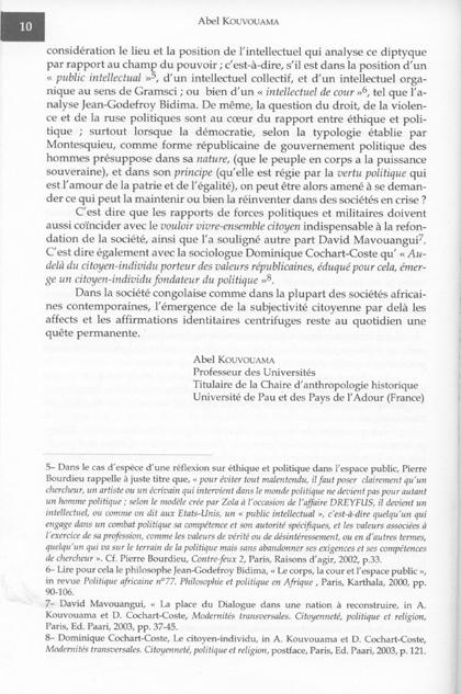 Ethique et politique 5