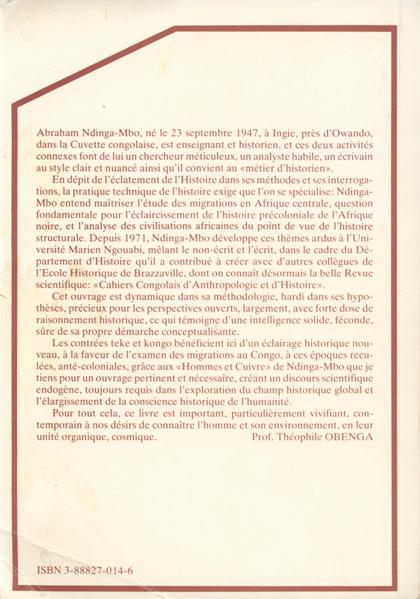 Introduction à l'Histoire des Migrations au Congo C4