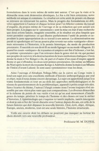 Introduction à l'Histoire des Migrations au Congo 2