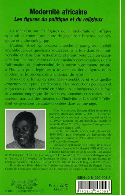 Modernité africaine C4