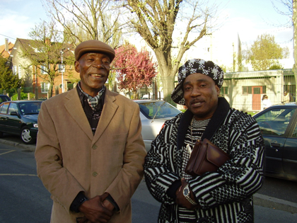 Les musiciens Gaulard et Bambou Chico