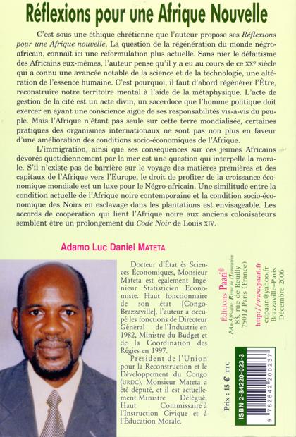 Réflexions pour une Afrique nouvelle C4